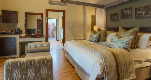 Comfortable accommodation at the Ivory Tree Lodge