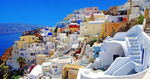 Town of Oia on Santorini