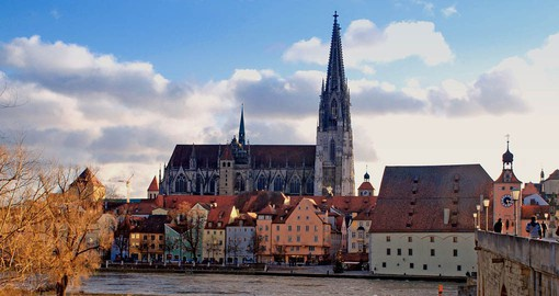 The 13th-century Regensburg Cathedral, a Gothic landmark is home to the Regensburger Domspatzen choir