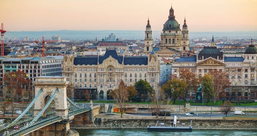 Overview of Budapest with St Stephen's Basilica