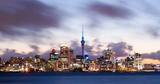 A view of Auckland's impressive skyline - always a great photo opportunity on your New Zealand vacation.