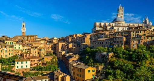 Experience breathtaking vistas like morning over Siena, Tuscany