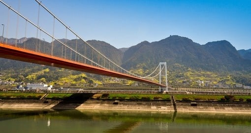 Bridge over the Yangtze River near the three gorges dam