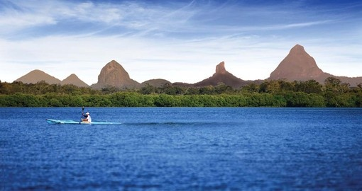 Take in Glasshouse Mountains on your trip to Australia