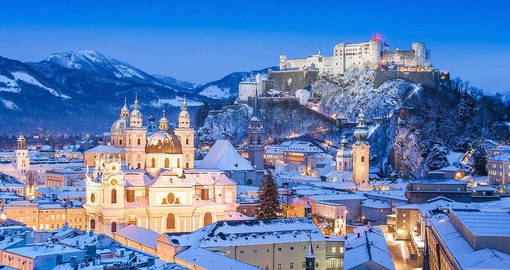 Salzburg is renown for it's medieval and baroque buildings of the Old City