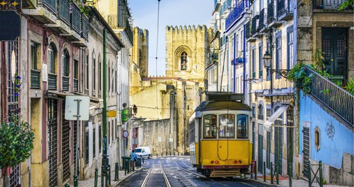 Beging your trip to Postugal in Lisbon, Portugal's hilly, coastal capital city