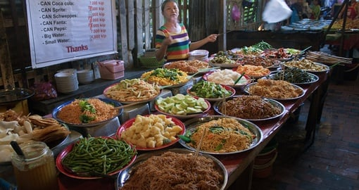 Traditional street food in Luang Prabang