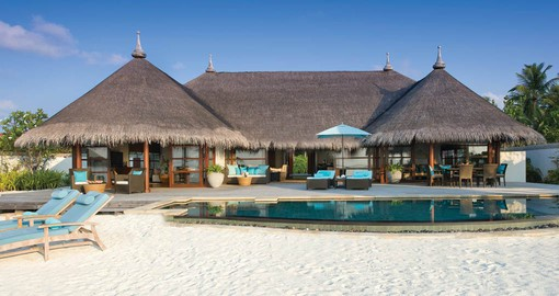 Many of the villas feature a stretch of private beach