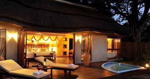 Room views at the Imbali Safari Lodge in South Africa