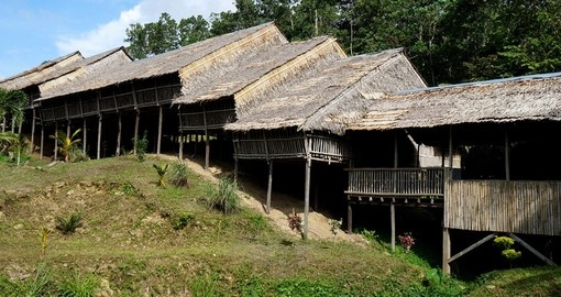 Traditional Borneo Longhouse
