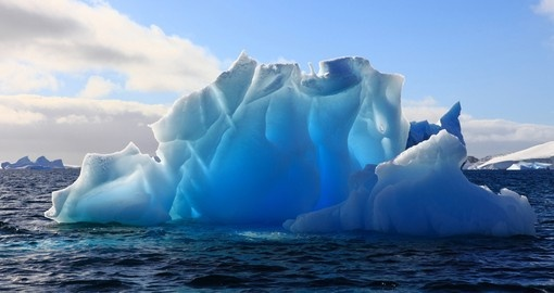 Wonderful iceberg nearly transparent
