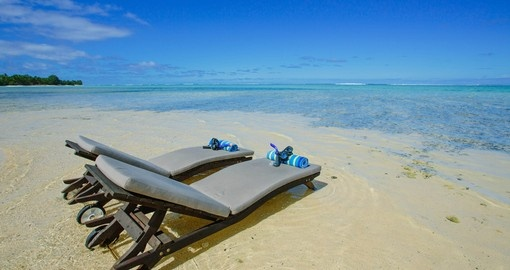 Enjoy beach time in the Cook Islands
