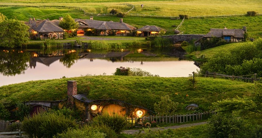 Stop in at the Green Dragon Inn in Hobbiton on your trip to New Zealand