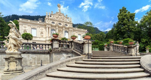 Visit the ornate Linderhof Palace during your trip to Germany