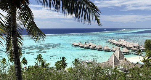 The Sofitel Moorea Kia Ora Resort enjoys a secluded waterfront setting on one of the island's best white sand beaches
