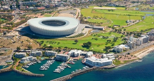 Experience aerial view of Cape Town during your next South Africa vacations.