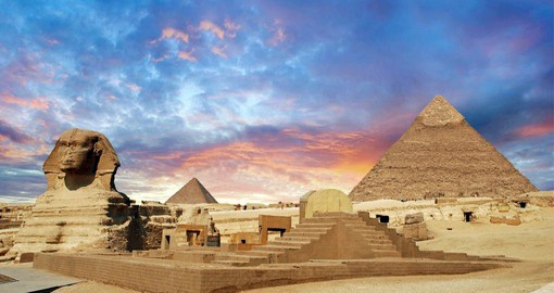 The Giza Pyramids and Sphinx are the last remaining wonder of the ancient world
