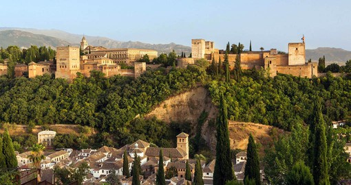 The Alhambra or Red Castle dates from 889