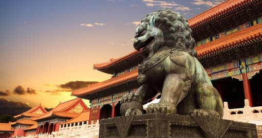 Seeing the Forbidden City at sunset is a must for all China tours.
