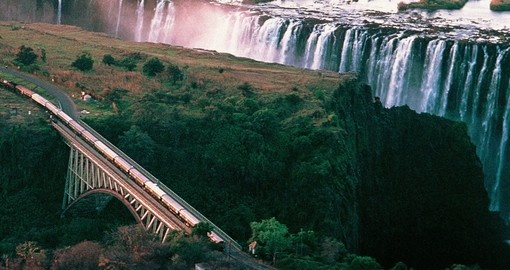 Rovos Rail passing by Victoria Falls - A must inclusion for all Botswana safaris.