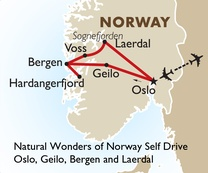 Natural Wonders of Norway Self Drive: Oslo, Geilo, Bergen and Laerdal