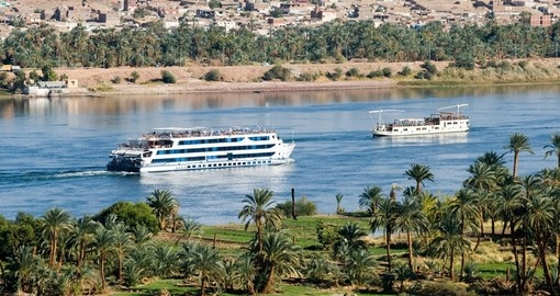 Cruise ship on Nile River