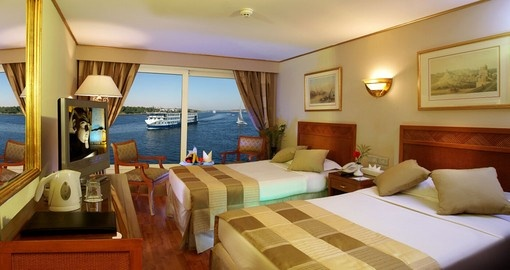 Cruise in comfort on the Nile River