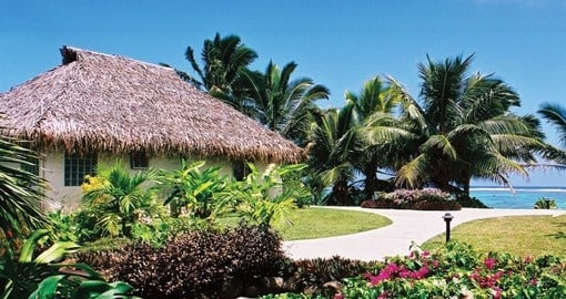 Enjoy call amenities of the Tamanu Beach Hotel on your next trip to Cook Island.