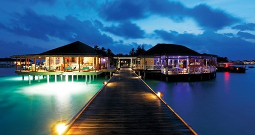You will stay at the Centara Grand Island Resort and Spa during your Maldives vacation.