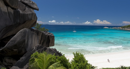 Discover world class beach on La Digue Island, Seychelles third largest inhabited island