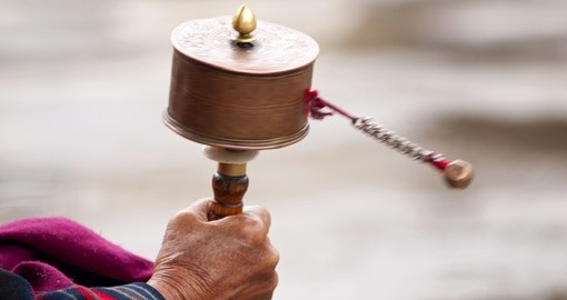 A prayer wheel