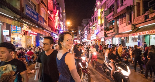 Navigating busy Ho Chi Minh City streets