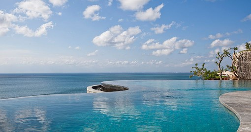 Relax in the Infinity pool at Anantara Uluwatu on your trip to Bali