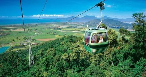 Enjoy a ride on the Skyrail Rainforest Cableway during your Australia Vacation