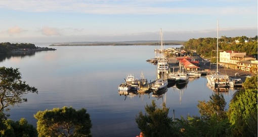 The small town of Strahan on the west coast of Tasmania
