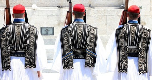 Ceremonial guards in Athens