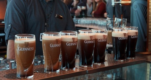 2.5 million pints of stout are brewed daily
