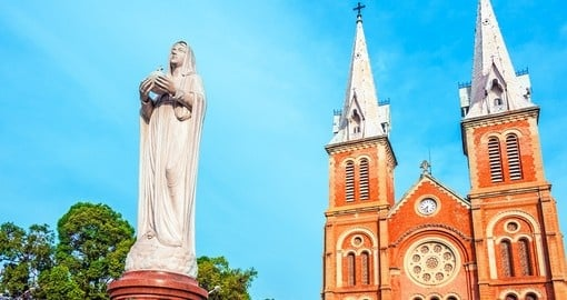 The Notre Dame Saigon Basilica in Ho Chi Minh City