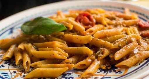 Enjoy delicious, traditional foods on your trip to Italy