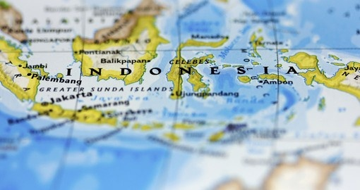 Indonesia on the globe