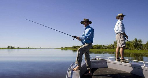 Experience fishing for Barramundi when staying at Wildman Wilderness Lodge during your next Australia vacations.