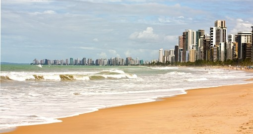 Boa Viagem Beach in Recife City – always a great time to relax and sunbath while on your Brazil vacation