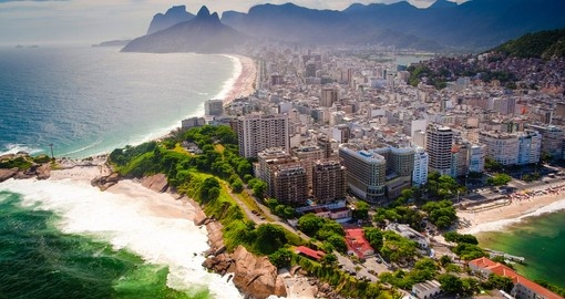 Ipanema Beach and Copacabana Beach