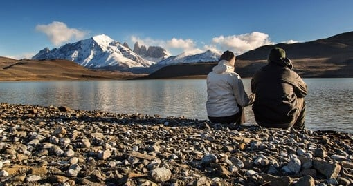 Couple enjoy the National Park Torres del Paine