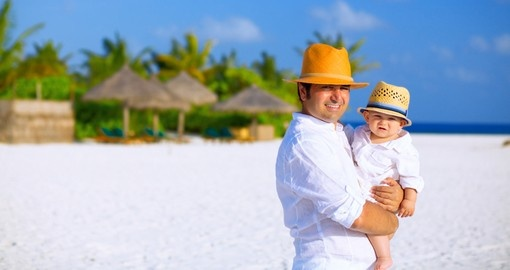 Father and son with panama hats
