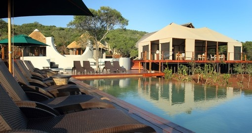 Thanda tented camp pool