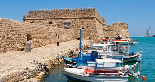Venetian Fortress in Heraklion Harbor, Crete, Greece