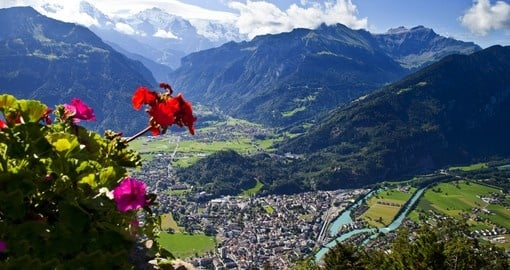 Visit and explore mountainous town Interlaken during your next trip to Switzerland.