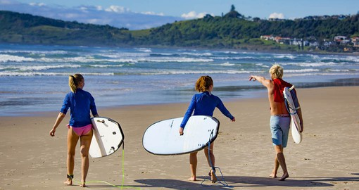 Your Australia vacation surfing adventure begins in Byron Bay