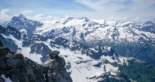 Enjoy this breathtaking view from Mount Titlis during your next Swiss vacations.